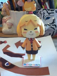 Isabelle Papercraft - Animal Crossing New Leaf