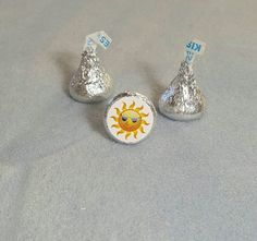 Sun Summer Hershey Kiss Stickers Envelope by LabelsandStickers