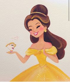 Belle & Chip. This is so cute, OMG.