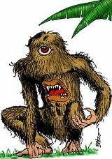 Jupi-pari | Figura do folclore brasileiro. Vive nas matas, tem a boca na barriga e amedronta os habitantes da mata.