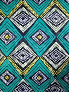Super Wax Print African Fabric 6 Yards 100 by Africanpremier