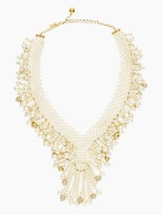 Madison Ave. Necklace | cream/glass pearls | Kate Spade