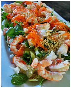 Vietnamese Noodle Salad with Prawns