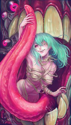 Olha a carinha de psicopata da Eto - Tokyo Ghoul                                                                                                                                                                                 Mais