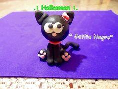 Gatito Halloween Manualidades / Porcelana fria - polymer clay - fimo