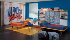 Cool Popular Kids and Teen Bedroom Design