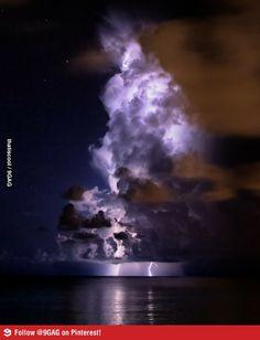 Captured the lightning on the horizon.