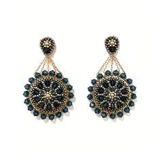 in den Farbtönen Gold, Anthrazit und Montanablau Drop Earrings, Gold, Accessories, Jewelry, Fashion, Ear Piercings, Blue, Moda, Jewlery