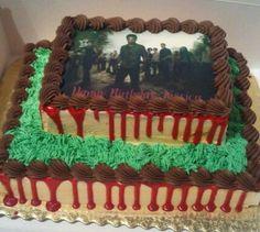 My daughter's Walking Dead cake