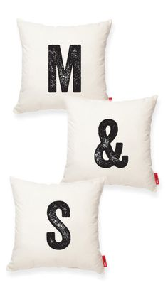 Initials Pillows