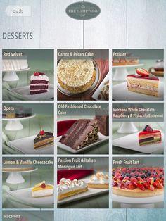 #tabletmenu #hamptons #ipadmenu #menu #menudesign #restaurantideas #food #dubai #desserts #dessert #menuideas #menu #restaurantmenus Fresh Fruit Tart, Opera Cake, Digital Menu, Menu Design, Menu Restaurant, Pistachio, White Chocolate, Macarons, Pecan