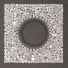 button art :) very pretty as a picture frame or mirror frame.