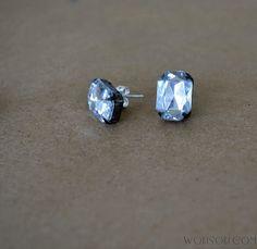 Easy Rhinestone Earrings DIY