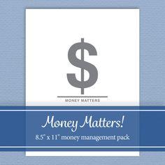 Money Management Kit - Budget, Track Spending, Manage Accounts - Editable PDF - Digital Download - Standard Letter Size Track Spending, Budget Tracking, Page Plus, Diy Crafts To Do, Printed Pages, Money Matters, Letter Size, Pinterest Blog, Online Jobs