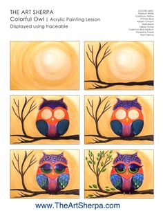 canvas painting for beginners videos Bird Painting Acrylic, Acrylic Painting Lessons, Acrylic Art, Painting Tips, Painting Art, Small Canvas Paintings, Simple Acrylic Paintings, Owl Paintings, Pastel Paintings