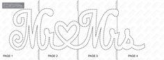 Herr & Frau String Kunst-Vorlage von StringArtTemplate auf Etsy