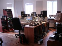 Sigur Ros' studio by emannapple. Home Studio Setup, Studio Layout, Loft Studio, Home Studio Music, Dream Studio, Luz Natural, Recording Studio Design, Sound Studio, Creative Studio