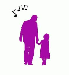 Image result for father and daughter walking silhouette