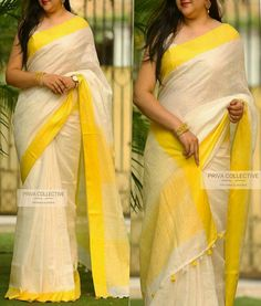 Pure Lenin sarees Ready to dispatch Price:2650 Order what's app 7995736811