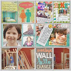 Basic idea of 4x6 blocks ... filling in with photos and journaling ... smaller rectangles on the bottom are 3x4