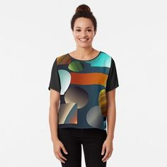 'Multi Colour Design' Chiffon Top by SeminaByRoselia Cool Artwork, Chiffon Tops, Wetsuit, Fitness Models, Awesome, Swimwear, Sleeves, How To Wear, Fashion Design
