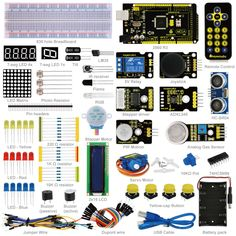 Demo Board Accessories Computer & Office Starter Kit For Uno R3 Motor 9g Server For Sensor 1602 Lcd Jumper Wire Uno R3 Resistors Led Battery Clip For Uno R3 Bringing More Convenience To The People In Their Daily Life