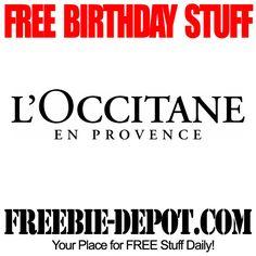 FREE BIRTHDAY STUFF LOccitane