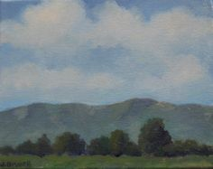 Jennifer Boswell Original California Impressionist Plein Air Landscape Clouds  Mountains Carpinteria Oil Painting. $199.00, via Etsy.