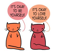 It's okay to be myself and love myself. #recovery #affirmations