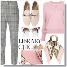Library Chic by drigomes on Polyvore featuring polyvore, fashion, style, Veronica Beard, Alexander Wang, Hermès, Thierry Lasry and clothing