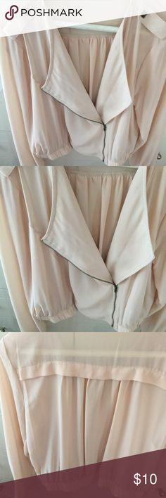 Beautiful sheer jacket.  Great to wear as coverup Fashionable throw of jacket.  Very fashionable n easy to wear.  A great alternative to a sweater or wrap.  Hardly used.  So nice purchased two.  Sheer n light. Charlotte Russe Jackets & Coats