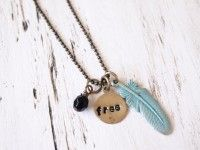 Free Spirit Feather Pendant  by HorseFeathers Gifts
