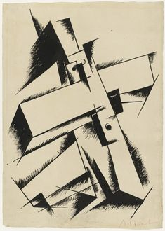 Ink on paper. The Riklis Collection of McCrory Corporation. Drawings and Prints Kazimir Malevich, Moholy Nagy, Art Courses, Design Lab, Moma, Religious Art, Picasso, Fashion Art, Opera