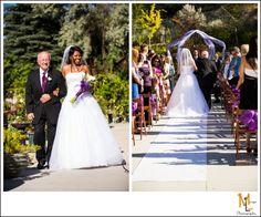 The Atrium Wedding Photography...bride walking down the aisle. Morgan Leigh Photography