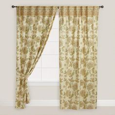 With a soft green floral motif and a bordered top, our Floral Kunika Curtain adds an exquisite, calming feel to your bedroom or living room.