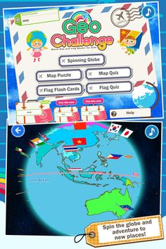 Geo challenge world map and flag master for kids is a fun geo challenge flags maps and geography learning game for kids giveaway the imums gumiabroncs Gallery