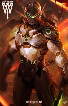 Genji from Overwatch ... [Artist: Wizyakuza]