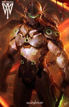 源氏 Genji from Overwatch ... [Artist: Wizyakuza]