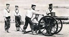 A Royal Navy Gatling Gun Team - This Day in History: Apr 02, 1879: The Battle of Gingindlovu http://dingeengoete.blogspot.com/