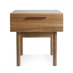 Shale Modern Bedside Table in Walnut