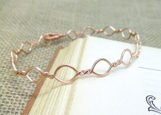 Woven Copper Bangle Wire Wrapped Bangle Hammered Copper Bangle Fashion Accessories Wire Wrapped Jewelry Gifts Under 20. $24.95, via Etsy.