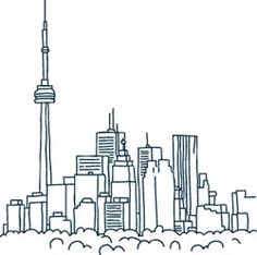 Sketch of Toronto Skyline
