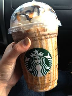I'll have to remember this. It looks good. -Starbucks Snickers Frap!!!  On the hidden menu...If your local starbucks doesnt know how to make it, Ask for: Java Chip Frappuccino with two pumps of toffee nut and a caramel chocolate drizzle on top!  Sounds delicious!!