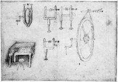 Roues et poulies d'entraînement  Author :  Pisanello (dit), Pisano Antonio di Puccio (1395-1455) (atel ier)