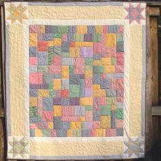 Baby quilt of 1930's repro fabrics.,.
