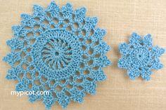 Large And Small Motifs - Free Crochet Patterns - (mypicot)
