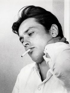 Alain Delon photographed by Luc Fournol, 1960′s.