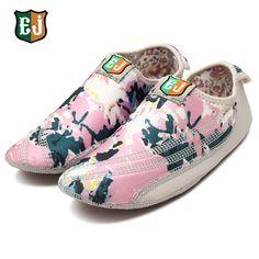 Sale 23% (26.77$) - EJ Women Cotton Colorful Hook Loop Comfortable Yoga Ballet Dance Sport Casual Flat Home Shoes