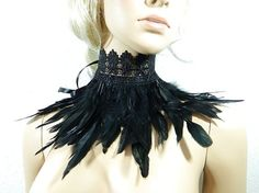 Dark Feathered Collar