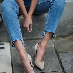 When in doubt, go for a nude pump.